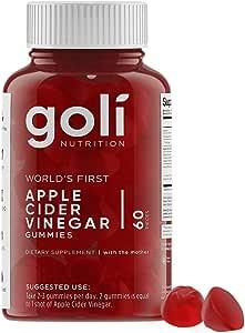 Goli Nutrition Inc. World's First Apple Cider Vinegar Gummy Vitamins (1)
