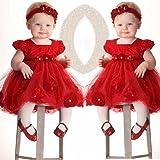 TRENDINAO Baby Girls Red Lace Princess Headband