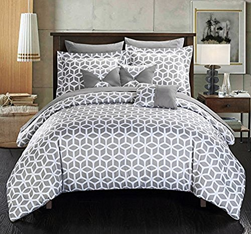 Chic Home Stefanie 10 Piece Comforter Set Geometric Diamond