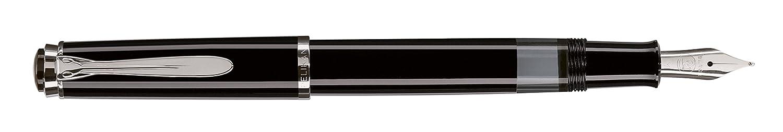 Pelikan 971770 Kolbenfüllhalter M205, M, in Geschenkbox, schwarz