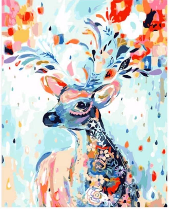 MEEKIS DIY Malen Nach Zahlen Geschenk F/ür Erwachsene Durch Zahlen Heimtextilien Schwarz Wei/ß Wilder Leopard Tier Wandkunst F/ür Erwachsene 40X50CM-No Frame