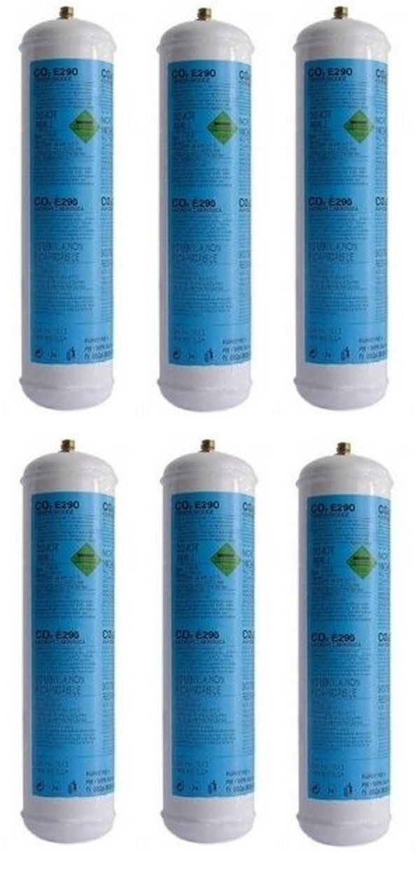 6 botellas de gas co2 600 gr E 290 máquina de un solo uso con gas valvola. 11 x CDR 03182003 1: Amazon.es: Hogar