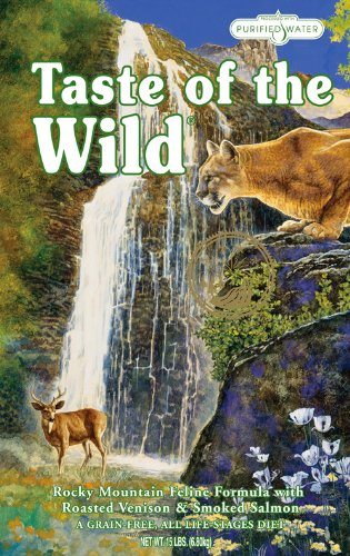 Taste of the Wild, Rocky Mountain Feline Formula with Roasted Venison & Smoked Salmon, Net Wt 15 Lbs
