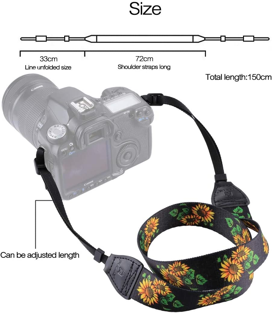 JINYANG Strap Retro Ethnic Style Multi-Color Series Butterflies Shoulder Neck Strap Camera Strap for SLR//DSLR Cameras JINYANG Color : Color3
