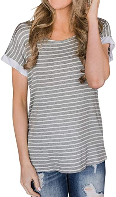 Fashion Women Ladies Short Sleeve Backless Blouse Tops Clothes T Shirt