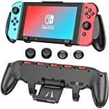 Switch Pro Grip with Upgraded Adjustable Stand for Nintendo Switch, OIVO Asymmetrical Grip with Upgraded Adjustable Stand/Car