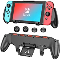 Switch Grip with Upgraded Adjustable Stand Compatible with Nintendo Switch, OIVO Asymmetrical Grip with Upgraded…