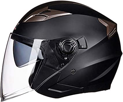 Motorbike Flip Up Sun Visor Helmet Motorcycle Jet Modular Black L