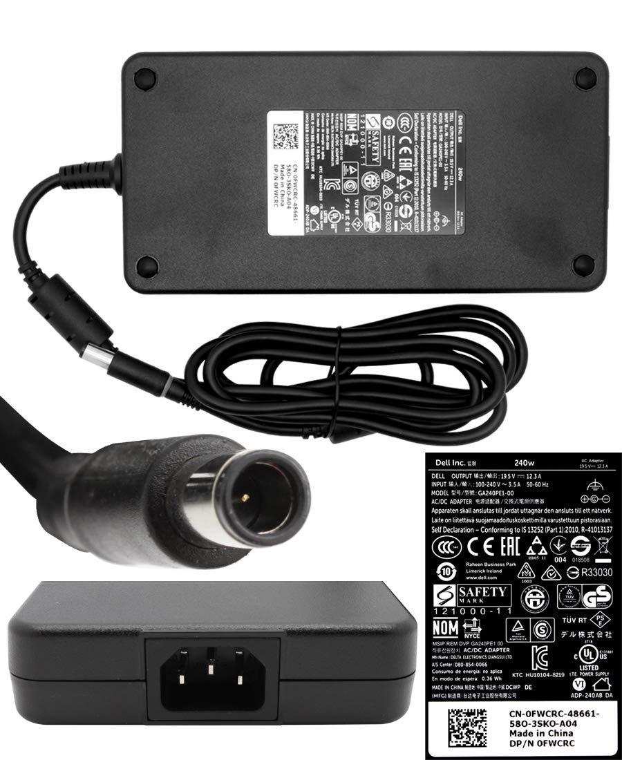 AC adapter 240 Watt Original FWCRC for Alienware Area-51 M17x / M17-R1 / M17X / M17X-R3; Asus G70 / G70S / G70SG; Dell Precision M6400, M6500, M6600