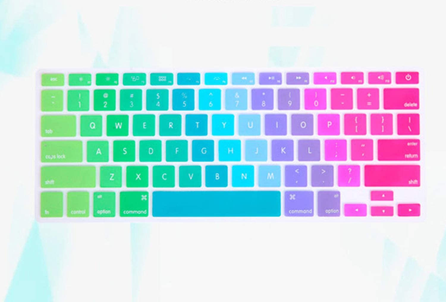 Colorful Silicon Keyboard Cover Laptop Skin Notebook Protector for 11 13 15 for MacBook Air Pro Retina-11Inch