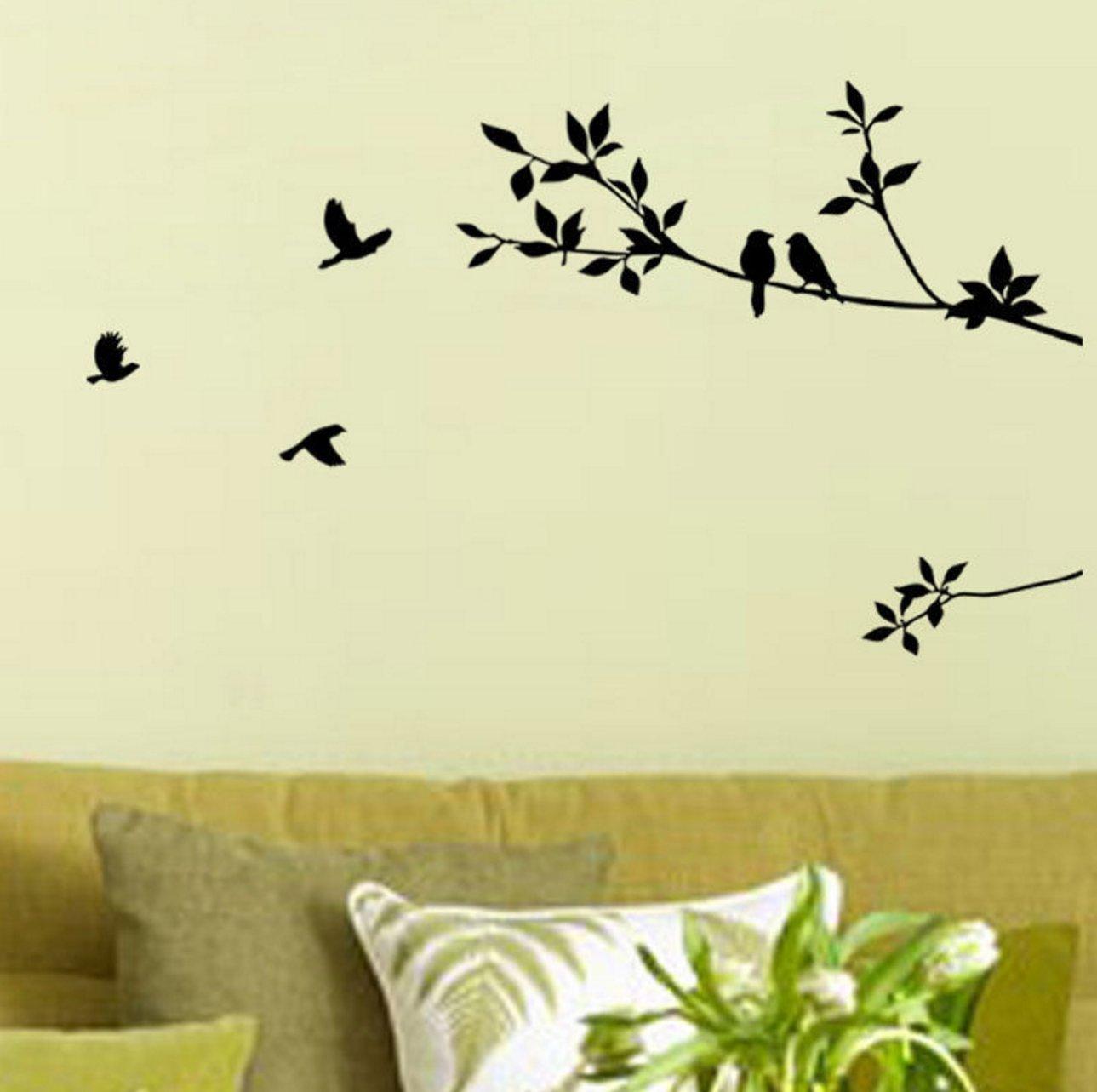 Amazon.com: Elegant Tree and Birds Wall Decal Art Branch Wall ...