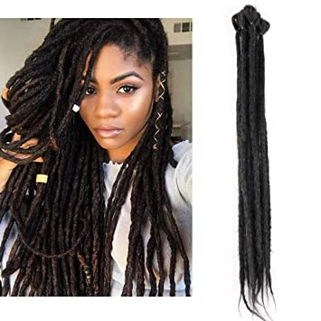 Amazoncom Handmade Dreadlocks Extensions 5 Strandspack Synthetic