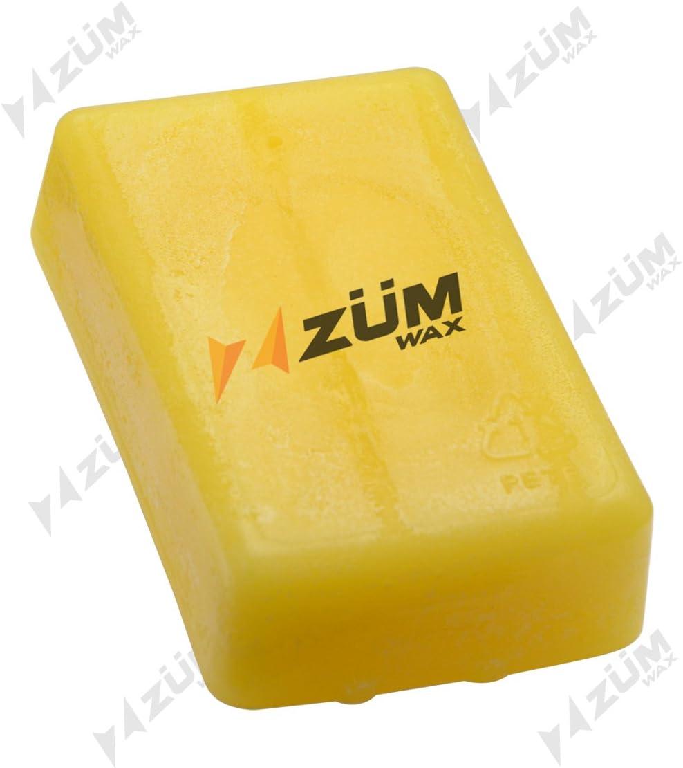 ZUMWax Ski//Snowboard RACING WAX 100 gram - EXCELLENT SPRING WAX !! by ZUMWax WARM Temperature