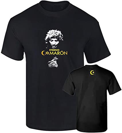 B & C Camiseta Oficial CAMARON DE LA Isla Flamenco Impresion Oro Algodon 190grs
