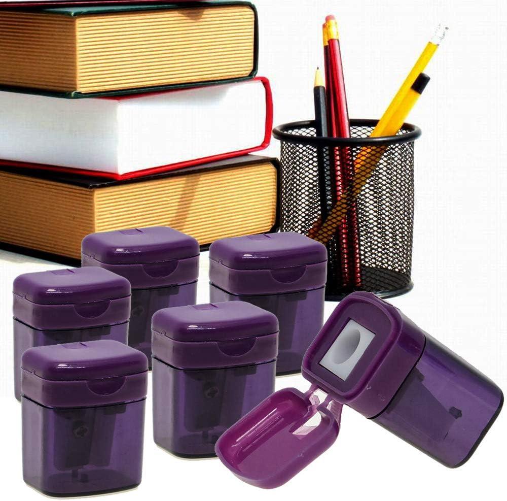 WEKOIL Pencil Sharpener,6 Pack Purple Colored Pencil Sharpener ...