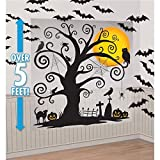 "Arts & Crafts : Amscan Family Friendly Halloween Trick Or Treat Mega Value Party Scene Setters Wall Decorating Kit (32 Piece), 65"" X 32 1/2"", Black"