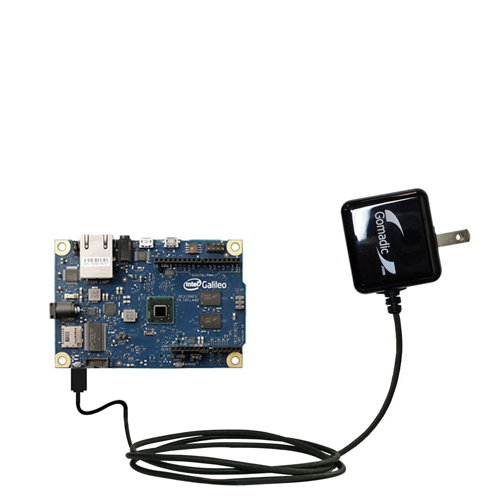 Gomadic High Output Home Wall AC Charger designed for the Arduino Intel Galileo with Power Sleep technology - Intelligently designed with Gomadic TipExchange