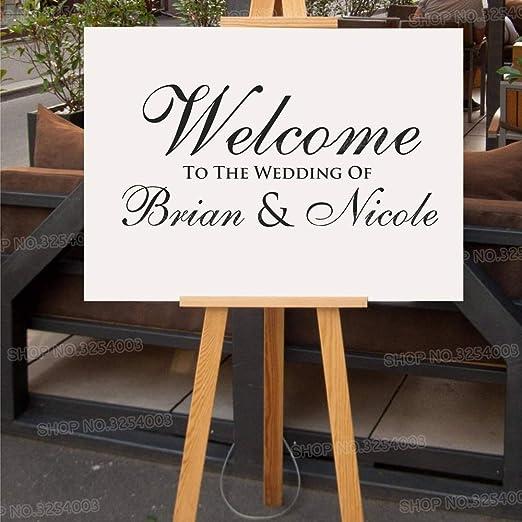 Etiqueta de boda personalizada simple Cartel de bienvenida ...