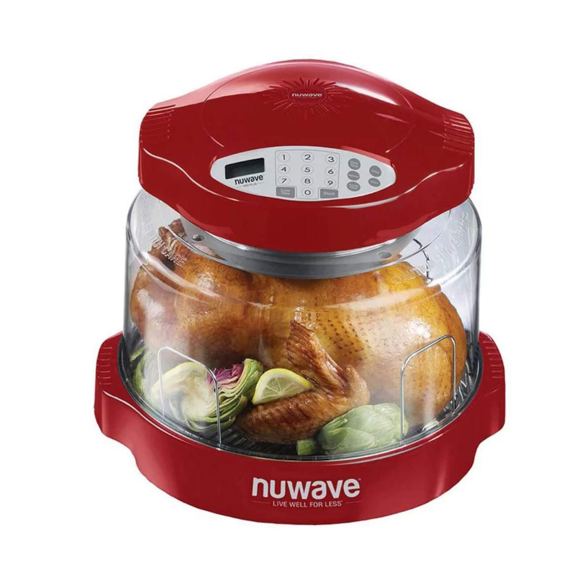 NuWave Oven Red Pro Plus with Clear Dome by NuWave