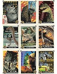 JURASSIC PARK MOVIE SERIES 1 1993 TOPPS COMPLETE BASE CARD & STICKER SET 88 & 11