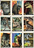 #4: JURASSIC PARK SERIES 1 1993 TOPPS COMPLETE BASE CARD & PUZZLE SET OF 88 + 11