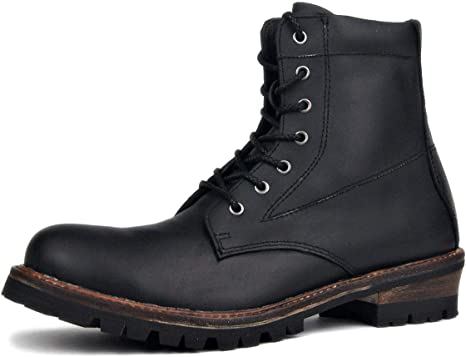 MERRYHE Biker Boots Motorcycle Leather