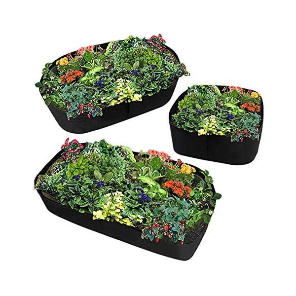 Funihut - Sacco da Coltivazione in Feltro per Piante orto, 180 * 90 * 40 5 spesavip