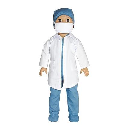 Amazon.com: Ropa de muñecas – 6 piezas conjunto Doctor Nurse ...