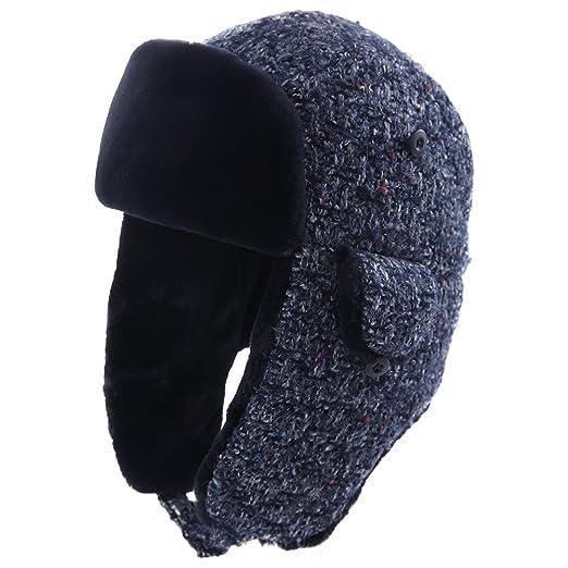 34b1d75dbbe Trapper Hat Faux Fur Aviator Hat with Ear Flaps Russian Winter Cold Weather Hat  Women Fleece