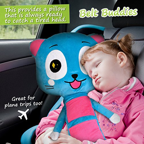 amazoncom belt buddies car seat toy comfortable and safe childrens pillow for the car the ultimate kids seat belt cover baby