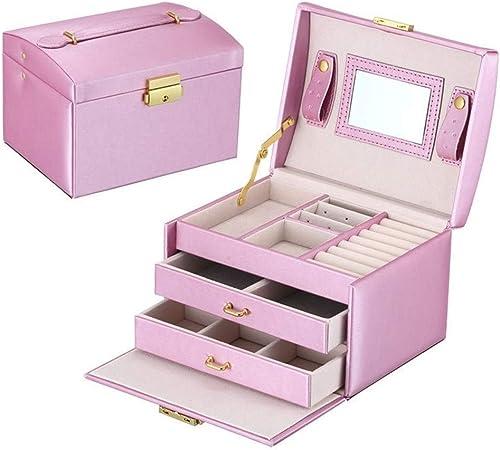 Gu3Je Joyero Cajas de joyería de empaquetado con broches de la Pulsera del Anillo Organizador Maletines para Guardar Joyas (Color : Purple, Size : 17.5x14x13cm): Amazon.es: Hogar