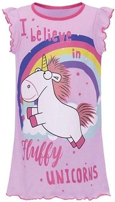 Girls Unicorn Nightie Nightwear age 3//4 5//6 7//8 purple