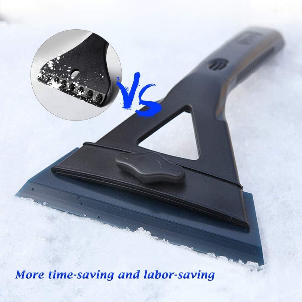 Max FULL CONTACT Windshield Scraper 14CM Widest Shape Adjust Blade Nessun graffi rimozione rapida,risparmiare tempo e manodopera Raschiatore di ghiaccio Raniaco per auto