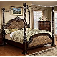 247SHOPATHOME Idf-7296DA-Q-C Bed-Frames, Queen, Dark Walnut
