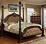 What Are the Dimensions of a Cal King Mattress 247SHOPATHOME Idf-7296DA-Q-C Bed-Frames, Queen, Dark Walnut