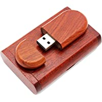 HIVAGI 32 GB Wooden Fancy USB Pen Drive (Rose Wood with Box)