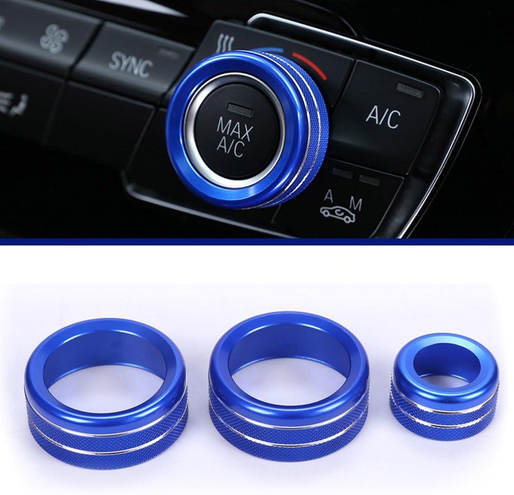 /17/estilo de coches Aire acondicionado pomos Audio accesorios de aleaci/ón de c/írculo trim 3/unidades para 1/2/3/4/serie F30/F34/F46/GT x1/F48/13/