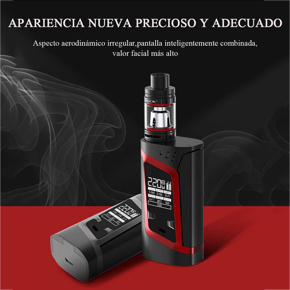 Auténtico SMOK Cigarrillo Electronico, Alien 220W Kit con 2ml TPD Vaporizador Tanque, Baterías recargables 2 * EFEST 3000 mAh Colección Cigarros ...