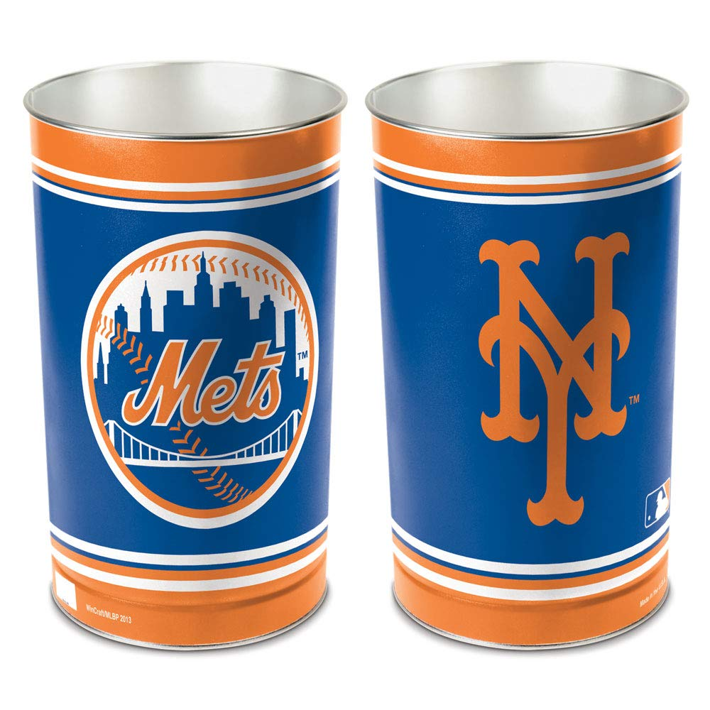 WinCraft MLB New York Mets 15 Waste Basket, Team Color, One Size
