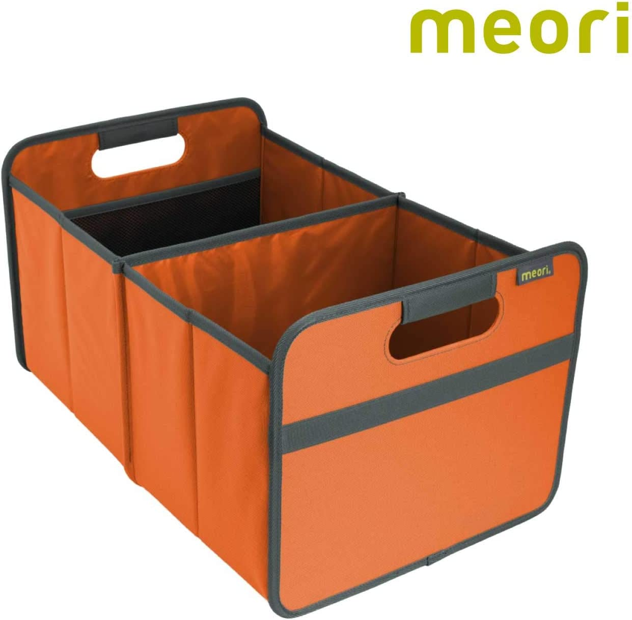 meori Tangerine Orange Foldable Box Classic Large Collapsible Organize Storage Carry Moving Collection Laundry Toys Records Books, 1-Pack