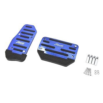sourcing map 2Pcs Placa Almohadilla Azul de Pedal del Freno y Acelerador de Coche Cambio Automático
