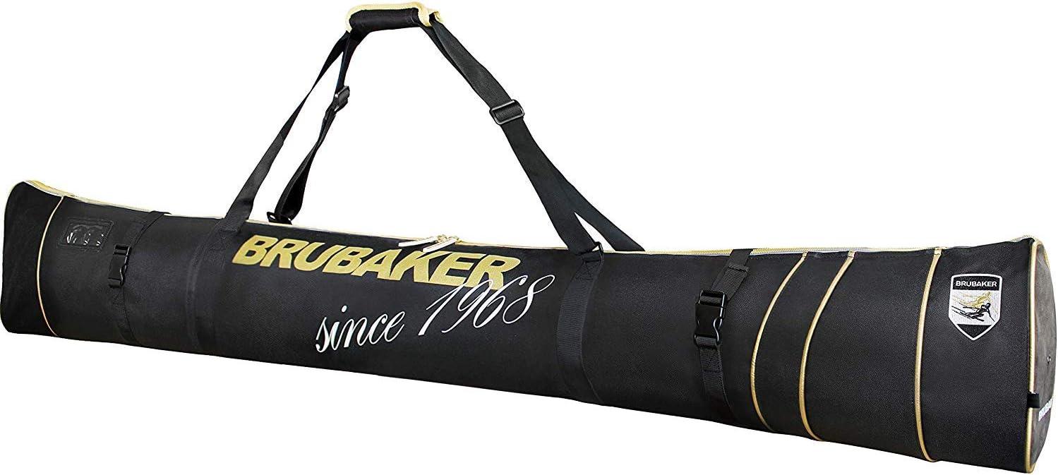 BRUBAKER スキーバッグ スキーとポール1組用 - 66 7/8インチ (170 cm) または74 3/4インチ (190 cm) - ブラック/ゴールド