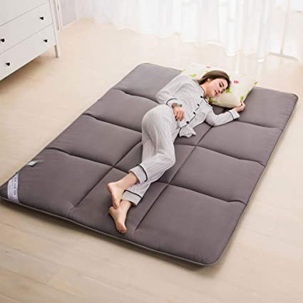 Amazon.com: Hongyan Grey Floor Bedding Mattress Sleeping Pad ...