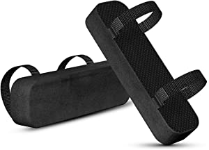 Yasolote Chair Armrest Pads,2 Pack Padded Armrest Cushion Pads with Memory Foam Elbow Pillow for Forearm Pressure Relief,Arm Chair Covers for Office Chairs,Wheelchair,Comfy Gaming Chair (Black)