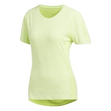 Adidas FR SN 37C SS W Camiseta, Mujer, Amarillo (Seamhe), XS