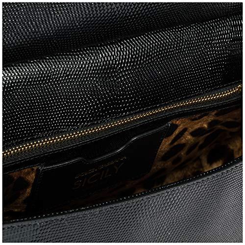 sicily à Dolce cuir Gabbana main amp; sac noir en femme qr7wt8r