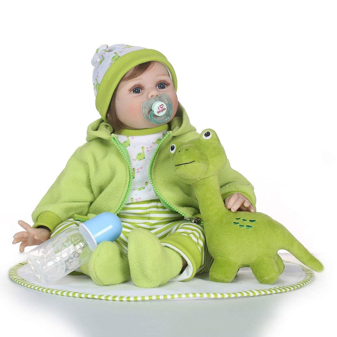 Fantasyworld 21 Pollici Baby Doll di Simulazione Morbido Silicone realistica Neonato Bambola Giocattolo Reborn Doll Playmate Regalo Giocattoli Baby Doll