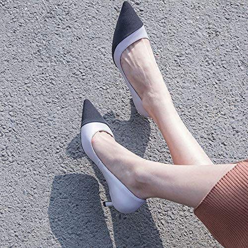 Female heels Small Pointed Fresh Yukun High Heels Fine Single With With Pu Cat Wild Shoes 5Cm Fairy With Grey High Autumn 56zwx6ATq