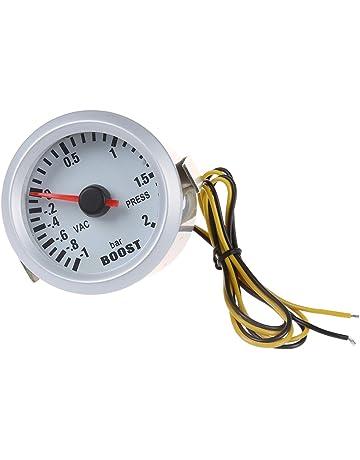 SODIAL(R) Turbo Boost Vacuum Press calibrador de presion de metro del para el