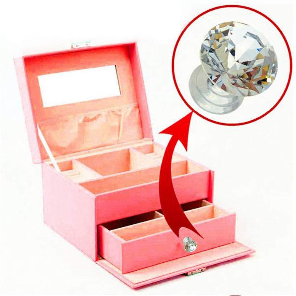 Pomos redondos para cajones o puertas Set Tiradores 10 Unids Mini 12mm Perlas de Corte Rombal Cristal Claro Cristal Geom/étrico Joyero Caja de Almacenamiento Caja de Maquillaje Caja de Regalo Caj/ón